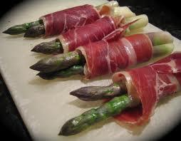 serrano ham and asparagus